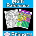 Math Reference Sheet - Primary