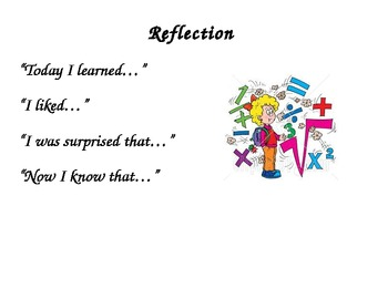Math Reflection Poster