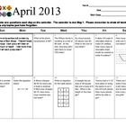 Math Review Calendar April 2013 Grade 6