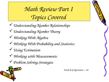 Math Review Part I Level 5 and 6 (PPT Series)