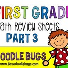 Math Review Sheets { First, Second & Third Grade}