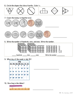Math Review Worksheet 4