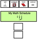 Math Schedule and Visuals- Autism, Special Education