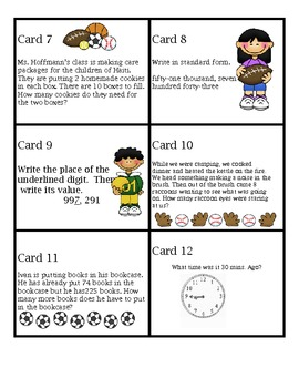 Math Scoot Game Addition, Subtraction, Multiplication, Tim