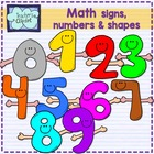 Math Signs and shapes characters clipart