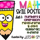 Math Skill Posters: Set 1 (Based on 4th and 5th Grade CCSS)