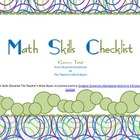 Math Skills Checklist The Teacher&#039;s Work Room