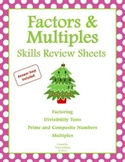 Math Skills Review Sheets: Factors and Multiples