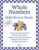 Math Skills Review Sheets: Whole Numbers