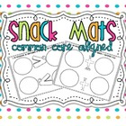 Math Snack Mats {Common Core aligned} *without standards*