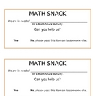 Math Snack Parent Request Reminders