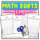 Math Sorts: Addition and Subtraction Bundle