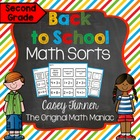Math Sorts for Back to School