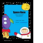 Math Space Race 0-31 counting game