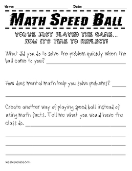 Math Speed Ball