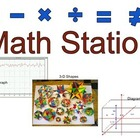 Math Station: Learning Center Label
