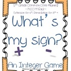 Math Station Mini-Book:  What&#039;s My Sign? ~ A Common Core I