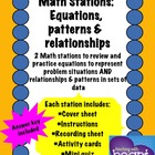 Math Stations: Equations and relationships and patterns in