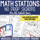 FREE Math Station - Ready to go stations for 4th, 5th, 6th grade
