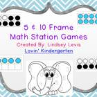 Math Stations with 5 and 10 Frames
