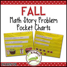 Math Story Problem Pocket Charts ~ for FALL