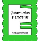 Math Subtraction Flashcards