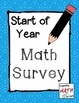 Math Survey - Get to know your students as Math learners