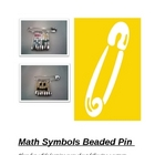 Math Symbols Beaded Pin