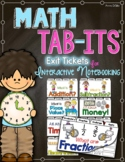Math Tab-Its - Exit Books for Interactive Notebooks