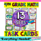 Math Task Cards Bundle for 4th Grade {13 Complete Sets}