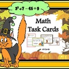 Math Task Cards (Grades 4 - 6): Fall or Autumn Themed