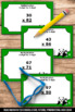 Multiplication 2 Digit by 2 Digit Worksheets Task Cards Ga