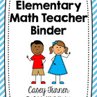 Math Teacher Binder 2013 - 2014