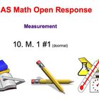 Math Test Prep -  Math Open Response Problems-Measurement