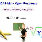 Math Test Prep -  Math Open Response Problems-Patterns, Al
