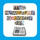 Math Test Prep - Newspaper Scavenger Hunt - End of Year Project