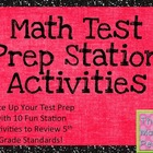 Math Test Prep Station Activities (5th Grade)