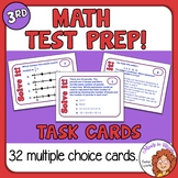 Math Test Prep and Review Task Cards for Third Grade