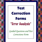 Math Test Student Error Analysis Test Correction Form