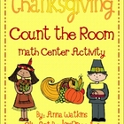 Math Thanksgiving Center - Write & Count The Room