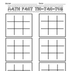 Math Tic-Tac-Toe