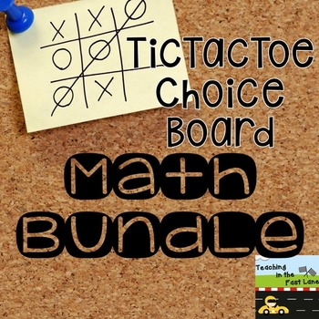 Math TicTacToe Choice Board Bundle