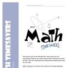 Math Timesavers - often used math forms, worksheets, and p