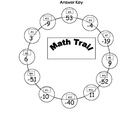 Math Trail Game - Order of  Operations