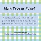 Math True or False?