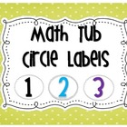 Math Tub Labels {6 colors}