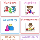 Math Tub Labels