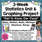 Math Unit: Data Analysis Graphing Statistics Project Gr. 3-5