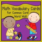 Math Vocabulary Cards (1st Grade Common Core)