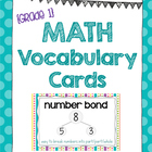 Math Vocabulary Cards {Grade 1} - Aligned to the NYS Math Modules